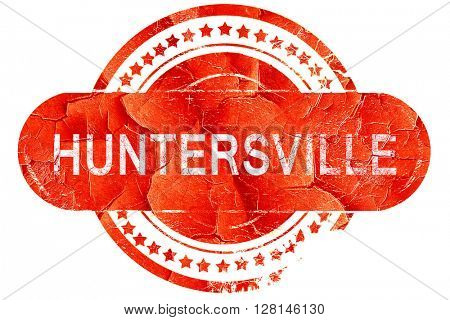 huntersville, vintage old stamp with rough lines and edges
