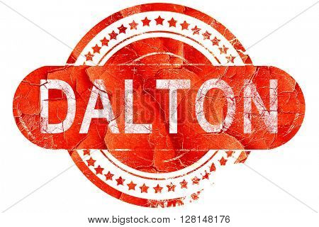 dalton, vintage old stamp with rough lines and edges