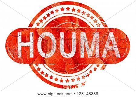 houma, vintage old stamp with rough lines and edges