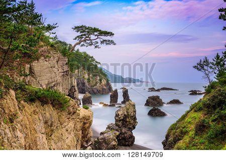 Sea of Japan coast at Omijima Island, Yamaguchi, Japan.