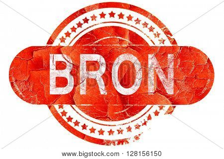 bron, vintage old stamp with rough lines and edges