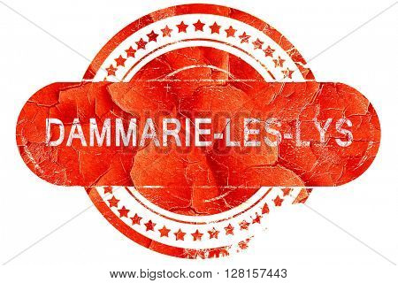 dammarie-les-lys, vintage old stamp with rough lines and edges