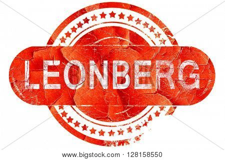 Leonberg, vintage old stamp with rough lines and edges