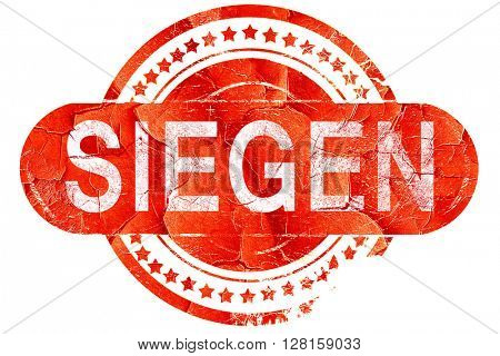 Siegen, vintage old stamp with rough lines and edges