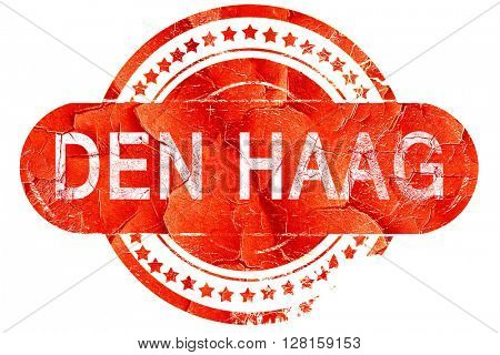 Den haag, vintage old stamp with rough lines and edges
