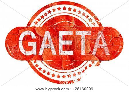 Gaeta, vintage old stamp with rough lines and edges
