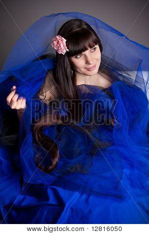 The Long-haired Girl In Dark Blue