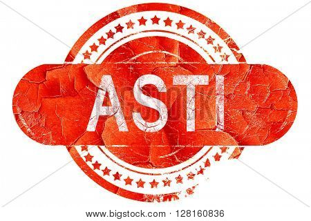 Asti, vintage old stamp with rough lines and edges