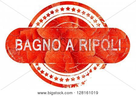 Bagno a ripoli, vintage old stamp with rough lines and edges