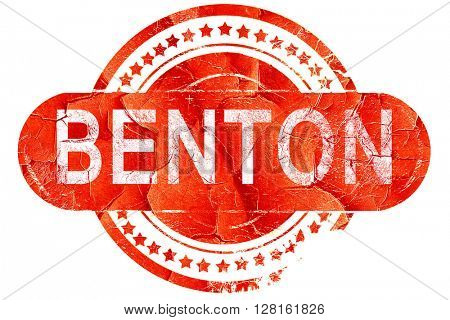 benton, vintage old stamp with rough lines and edges