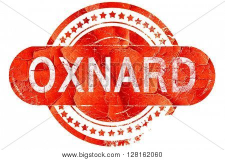 oxnard, vintage old stamp with rough lines and edges
