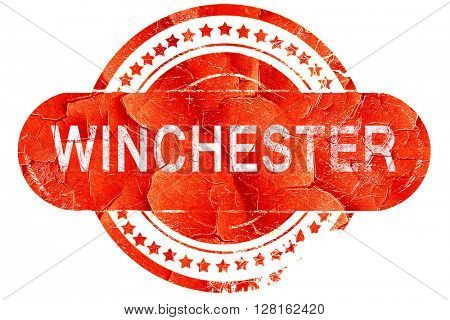 winchester, vintage old stamp with rough lines and edges