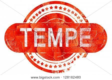 tempe, vintage old stamp with rough lines and edges