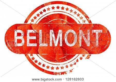 belmont, vintage old stamp with rough lines and edges