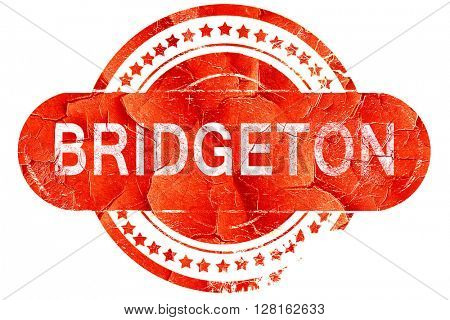 bridgeton, vintage old stamp with rough lines and edges