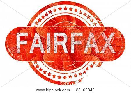 fairfax, vintage old stamp with rough lines and edges
