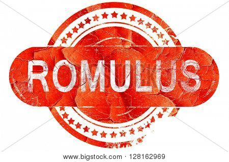 romulus, vintage old stamp with rough lines and edges