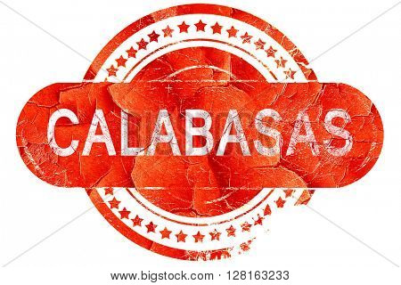 calabasas, vintage old stamp with rough lines and edges