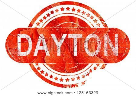 dayton, vintage old stamp with rough lines and edges