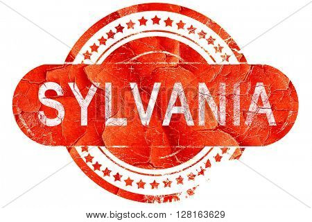 sylvania, vintage old stamp with rough lines and edges