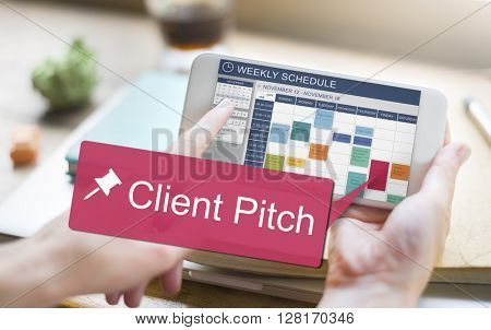 Client Pitch Consultant Corporate Customer Job Concept