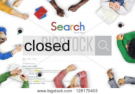 Closed Deal Blocked Covered Done Concept