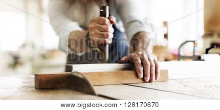 Handyman Occupation Craftsmanship Carpentry Concept poster