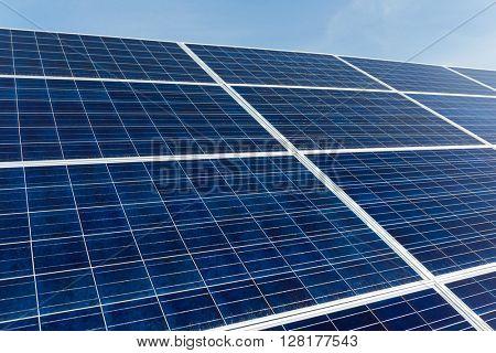 Solar panel in blue