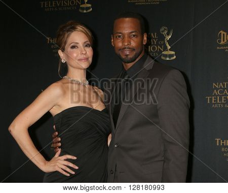 LOS ANGELES - APR 29:  Lisa LoCicero, Anthony Montgomery at the 43rd Daytime Emmy Creative Awards at the Westin Bonaventure Hotel  on April 29, 2016 in Los Angeles, CA