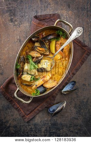 Moqueca de Peixe in Copper Pot