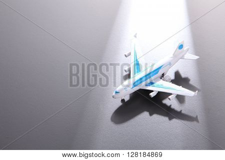 Toy Plane on White Background