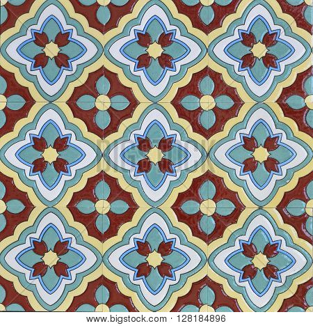 Typical Arabic patterned tile background.