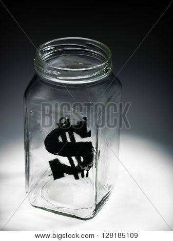 dollar sign  in the jar