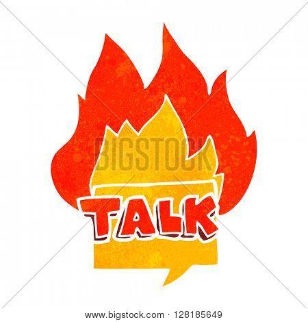 freehand retro cartoon talk symbol