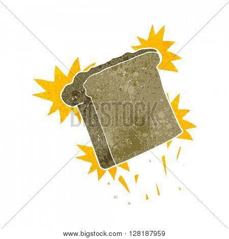 freehand retro cartoon toast