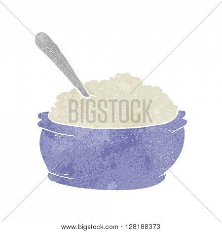freehand retro cartoon sugar bowl