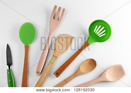 Set of kitchen tools, isolated on white