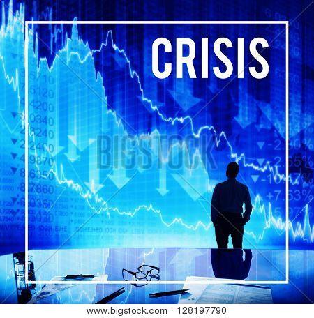 Crisis Problem Financial Crisis Concept