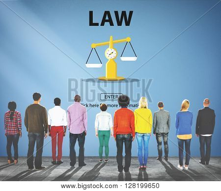 Law Judgment Rights Weighing Legal Concept