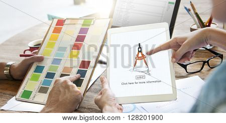 Compass Architecture Drafting Tools Business Concept