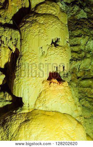 Stone Skull. New Athos cave, Abkhazia
