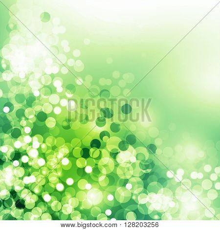 green spring bokeh background