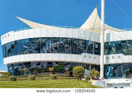 Dubai U.A.E. - February 15 2007: The club house of the Yacht Club