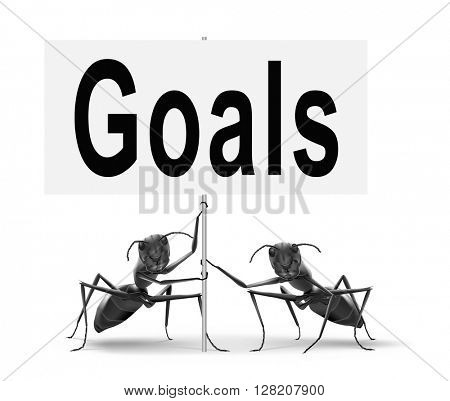 goals and ambition way to success guarantee to reach your goal and go to the top,road sign billboard