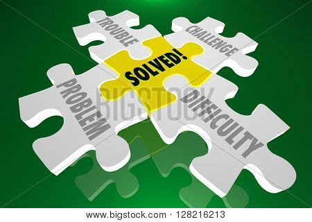 Solved Solution Trouble Problem Challenge Difficulty Puzzle