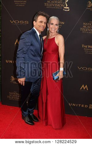 LOS ANGELES - MAY 1:  Scoot Reeves, Melissa Reeves at the 43rd Daytime Emmy Awards at the Westin Bonaventure Hotel  on May 1, 2016 in Los Angeles, CA