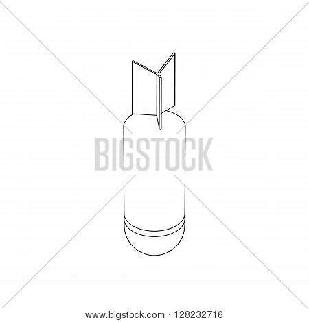 Rocket bomb icon in isometric 3d style on a white background