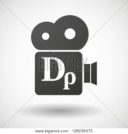 Isolated Cinema Camera Icon With A Drachma Currency Sign