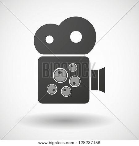 Isolated Cinema Camera Icon With Oocytes