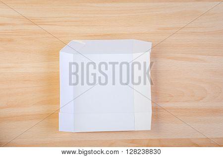 handmade white paper box. Craft and scrapbook
